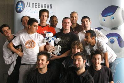Aldebaran Robotics Newsletter Juillet 2008 TeamProd #1