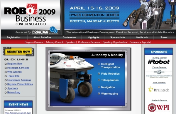 RoboBusiness 2009 - Exposition #1