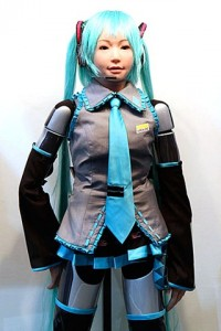 HRP-4C Humanoide - Vocaloid - CEATEC-2009 #2