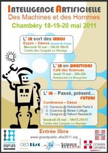 AFIA 2011 - Des Machines et des Hommes - Evènement Robotique et Intelligence Artificielle à Chambéry - Affiche #1