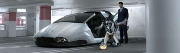 Publicité Dodge Charger 2011 et les robots – The Future of Driving Bandeau #1