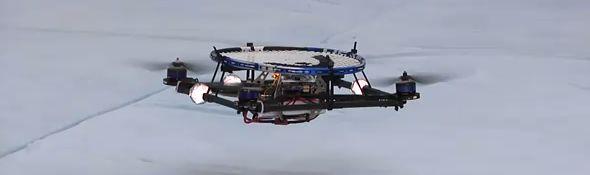 Quadricoptère - Robot qui jongle avec une balle de pingpong #1