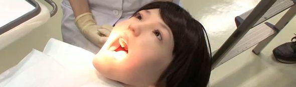 Hanako 2 le robot patient pour dentiste - Bandeau #1