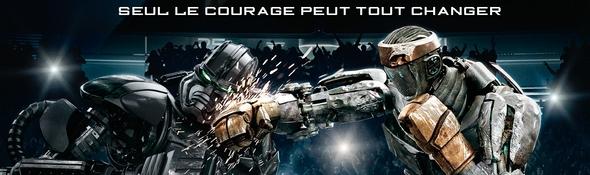 Real Steel - Film Robots - Affiche Francçaise - Bandeau #1