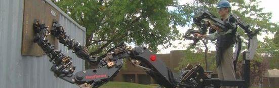 Raytheon Sarcos - Exosquelette pour chantiers - Bandeau #1