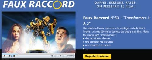 Faux Raccord #50 - Films Transformers 1 et 2 - Allociné #1