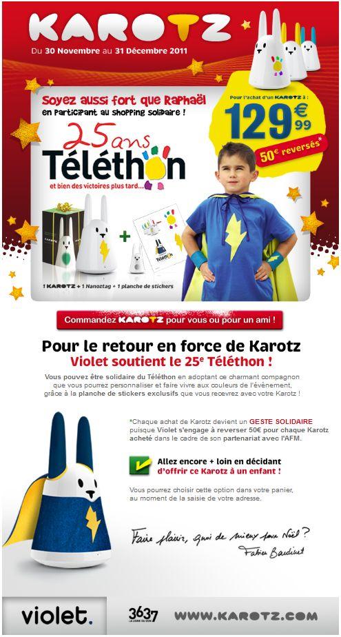 Karotz - Le Lapin Robot de Violet pour le Téléthon 2011 #2