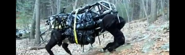 AlphaDog de Boston Dynamics - LS3 - En phase de Tests - Bandeau #1