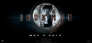 Film Iron Man 3 - Poster Comic Con 2012 - Logo #1