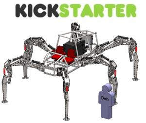 Robot hexapod Stompy Kickstarter