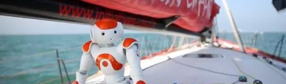 Vendée Globe 2012 - Tanguy de Lamotte et le robot Nao #2 - Bandeau