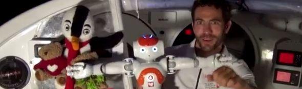 Vendée Globe 2012 - Tanguy et le robot Nao - Episode 3 - Bandeau #1