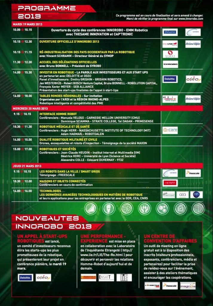InnoRobo 2013 - Programme #1