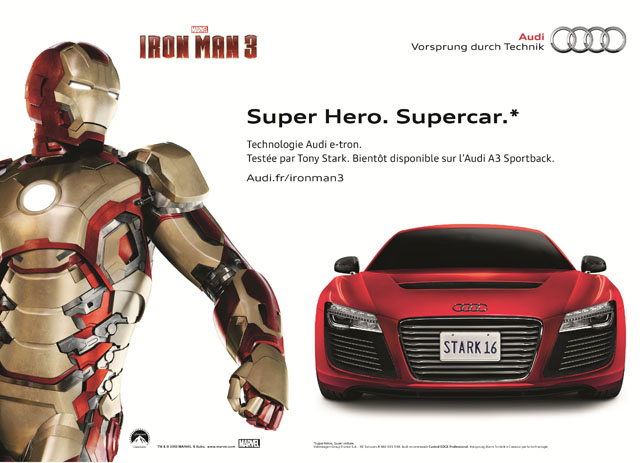 Film Iron Man 3 - Audi R8 E-Tron #1