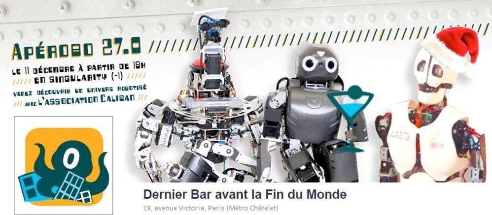 Apérobo 27 - Vingt-septième Edition - La Rencontre mensuelle des passionnés de Robotique - Affiche #1