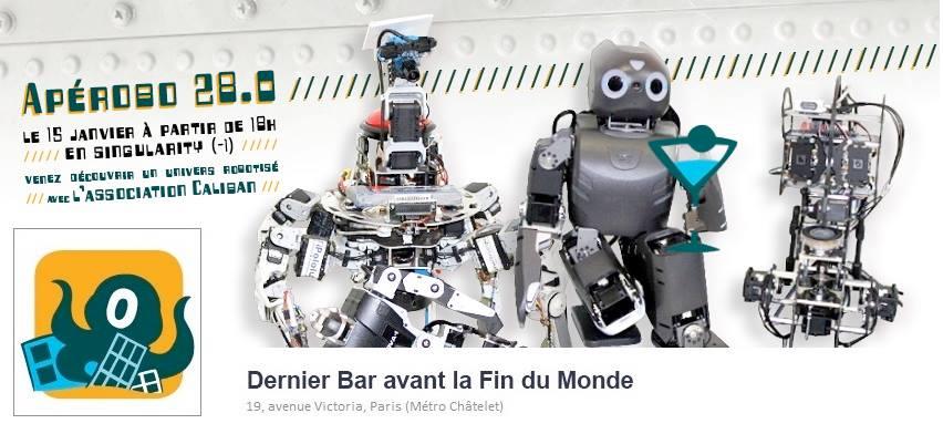 Apérobo 28 - Vingt-huitième Edition - La Rencontre mensuelle des passionnés de Robotique - Affiche #1