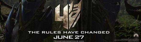 Film Transformers 4 - L'Age de l'Extinction - Affiche Optimus Prime - Bandeau #1
