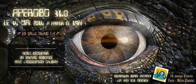 Apérobo 31 - Trente-et-unième Edition - La Rencontre mensuelle des passionnés de Robotique - Affiche #1