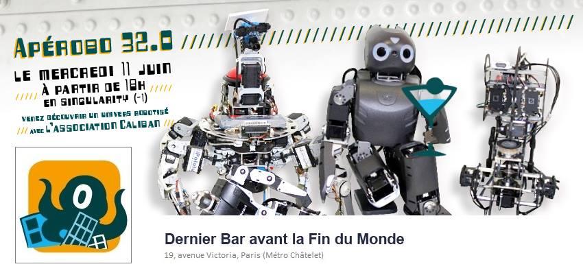 Apérobo 32 - Trente-deuxième Edition - La Rencontre mensuelle des passionnés de Robotique - Affiche #1