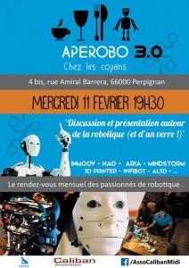 Aperobo Perpignanais 3.0 - Rencontre Robotique Mensuelle - Affiche #1