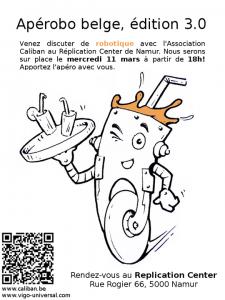 Aperobo Belgique 3.0 - Rencontre Robotique Mensuelle - Affiche #1
