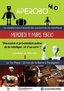 Aperobo Perpignanais 4.0 - Rencontre Robotique Mensuelle - Affiche #1