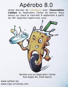 Aperobo Belgique 8.0 - Rencontre Robotique Mensuelle - Affiche #1