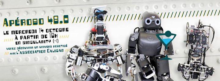 Apérobo 48 - Quarante huitième Edition - La Rencontre mensuelle des passionnés de Robotique - Affiche #