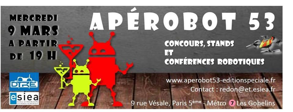 Apérobo 53 - Rencontre Robotique Mensuelle - Affiche #1