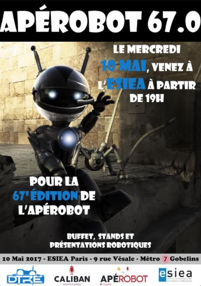 Apérobo 67 DTRE - Rencontre Robotique - Mensuelle - Affiche #1